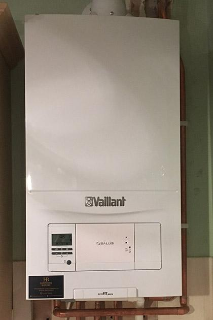 New Vaillant boiler installation